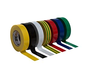 yellow striped tape electrical green
