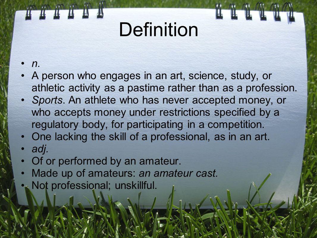 definition of amateurs