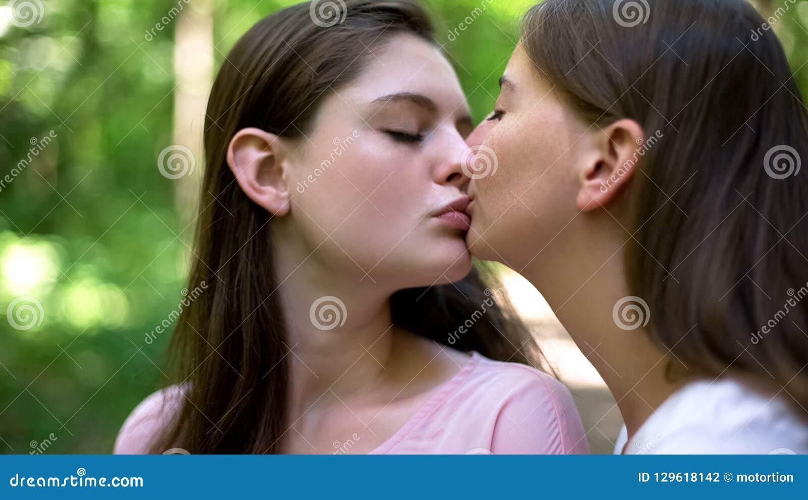 lesbian intimate kissing