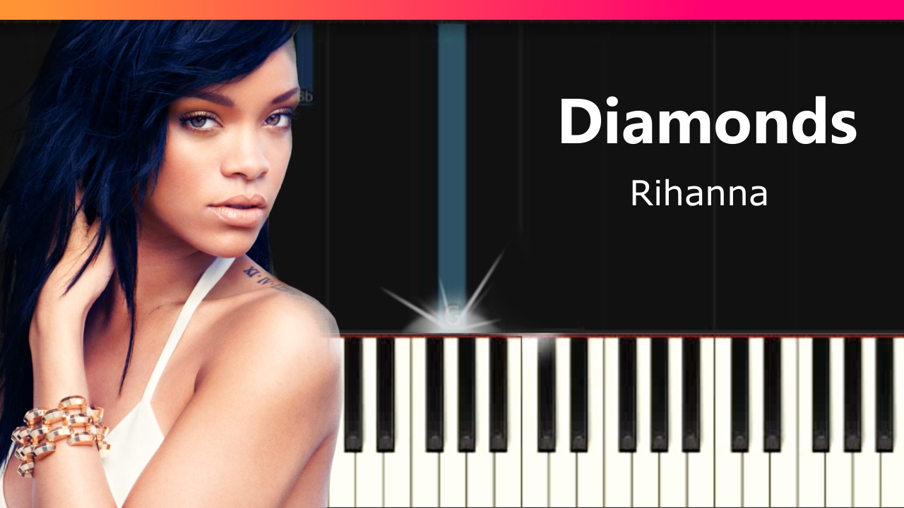 to how piano play diamonds on