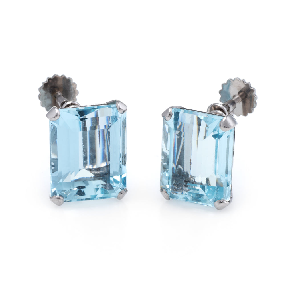 aquamarine earrings vintage