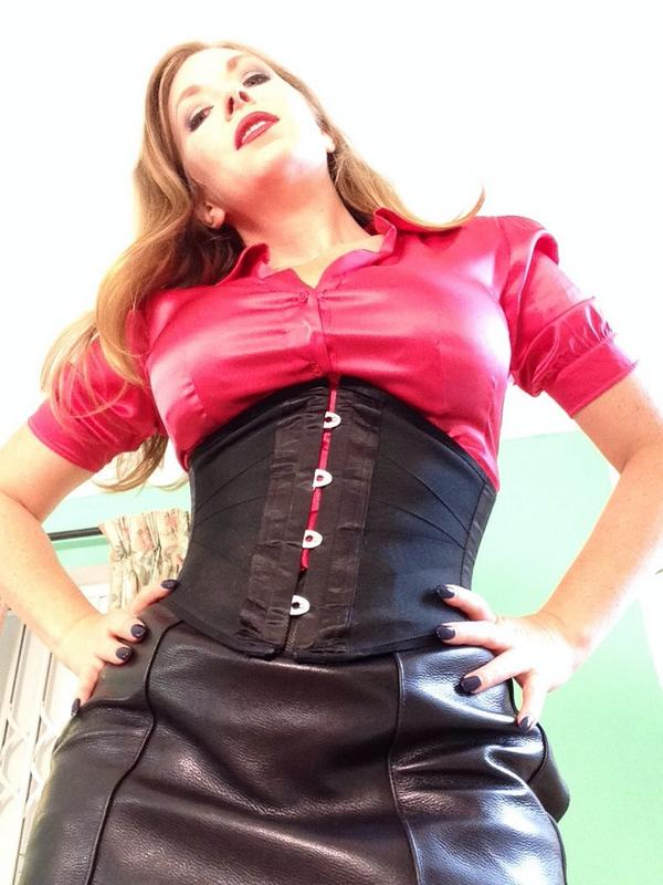 satin fetish mistress
