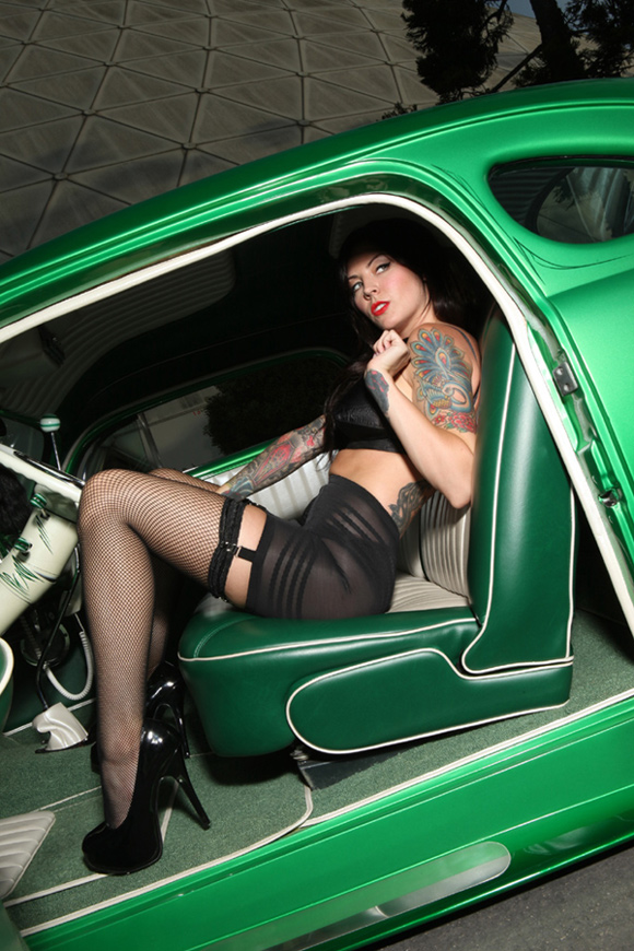 sexy with in hot car women stockings
