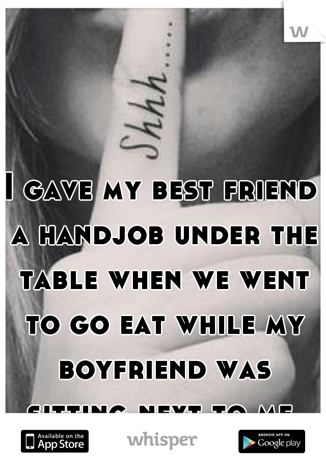 a table handjob under the giving