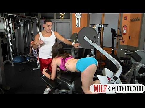 at threesome milf hot gym