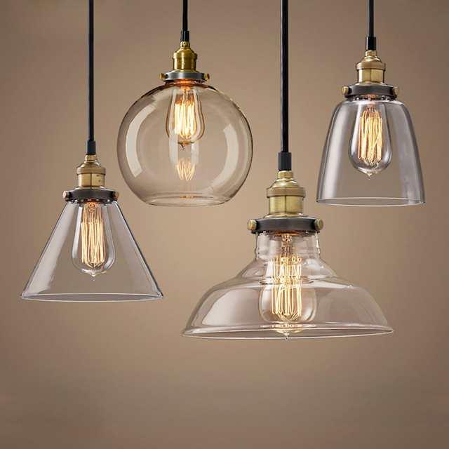 glass lights vintage