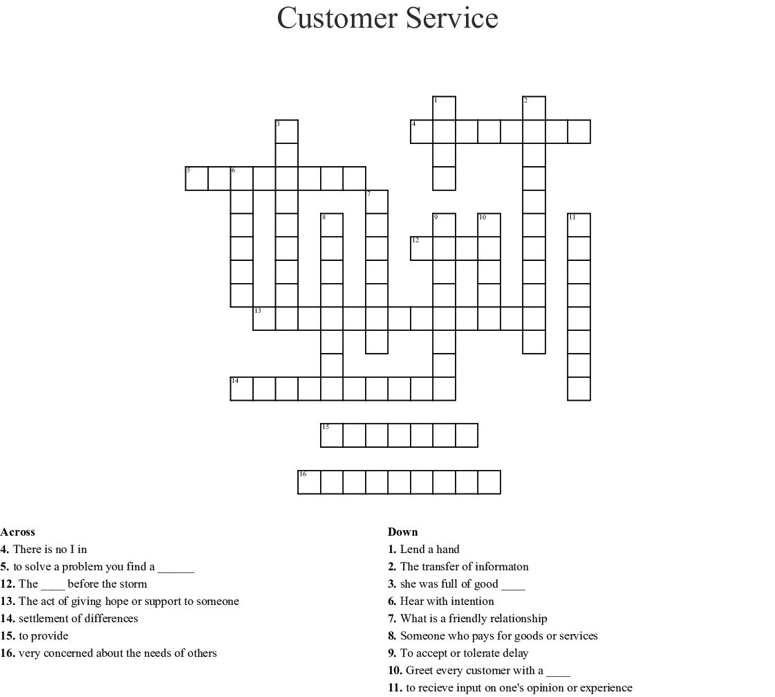 service goal dating crossword clue