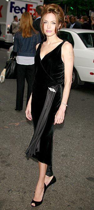 dress jolie angelina vintage