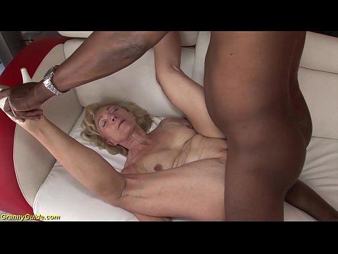 old cock granny black