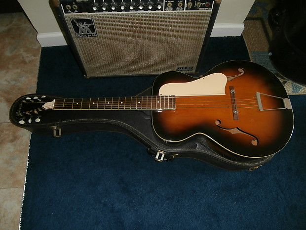 guitar acoustic vintage silvertone