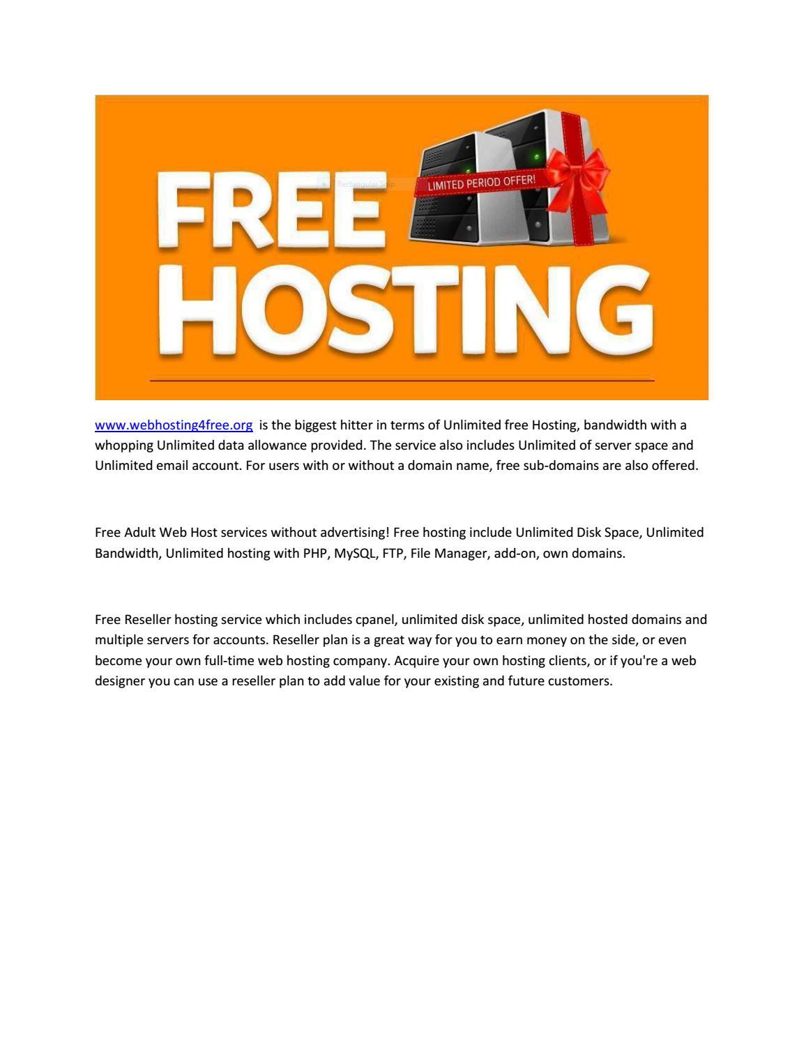 free adult hosting net
