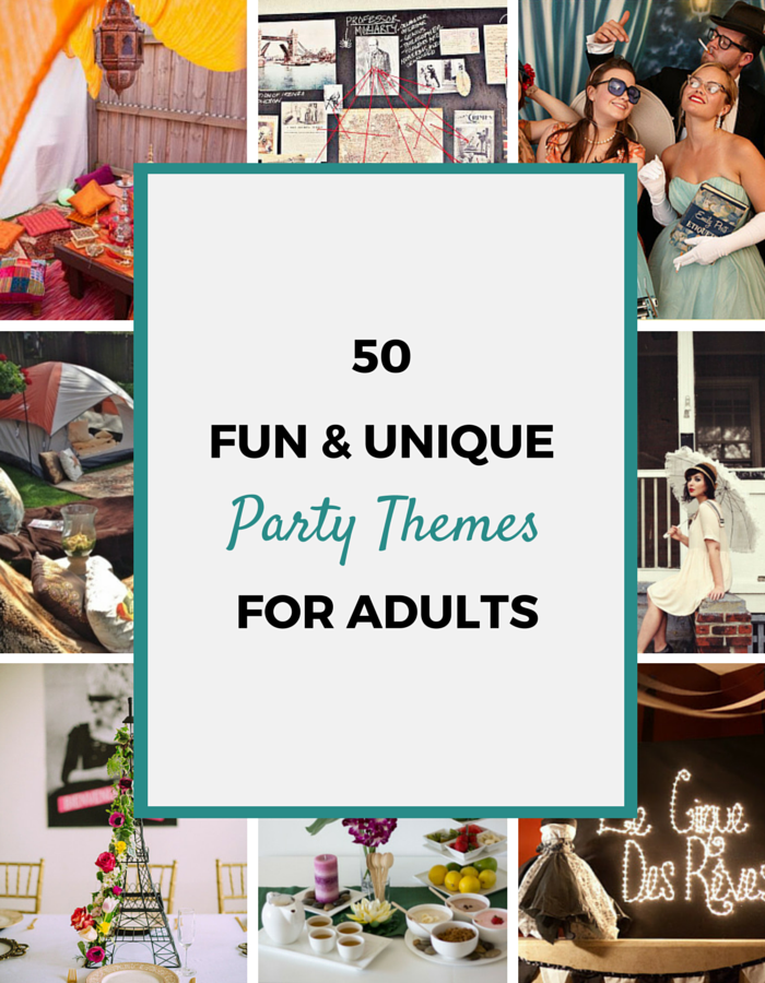 themes cool for adults party