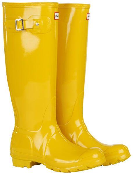 rainboots vintage yellow