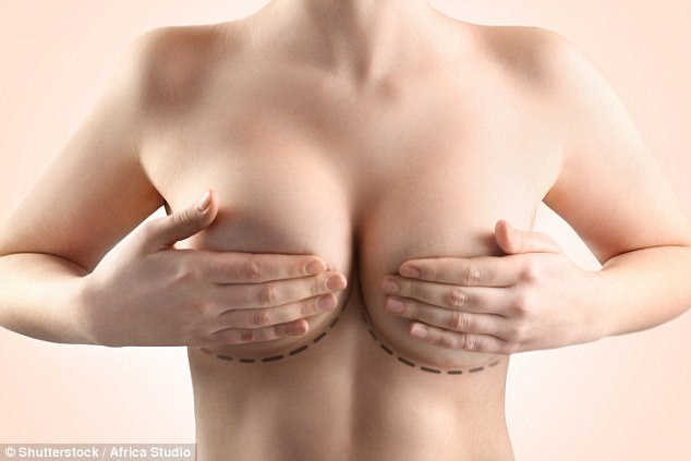 women breast on
