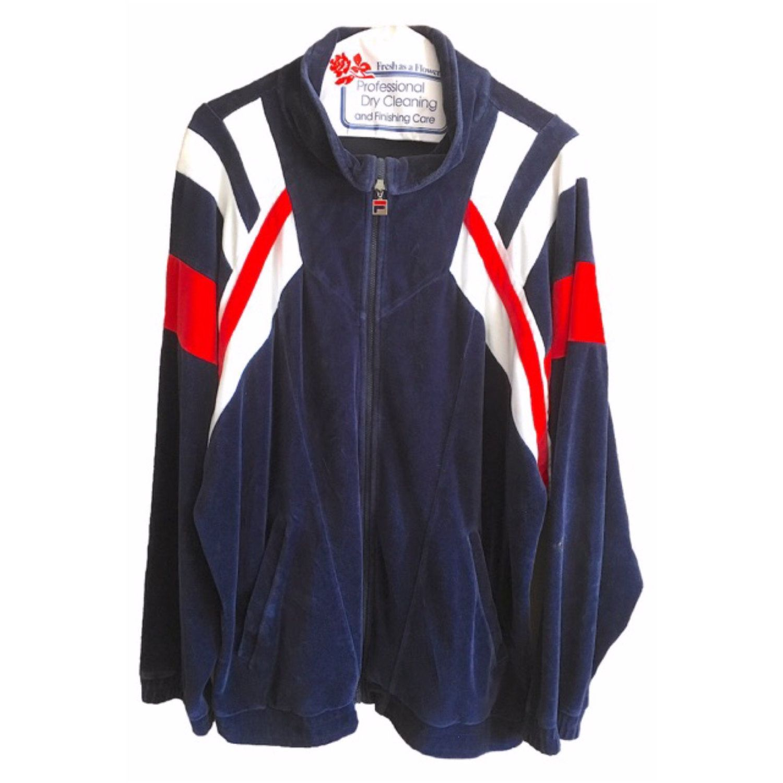 fila striped sport jacket velour