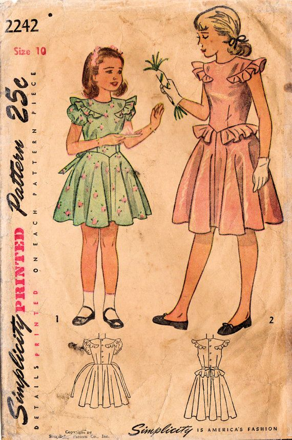 vintage girl s clothes