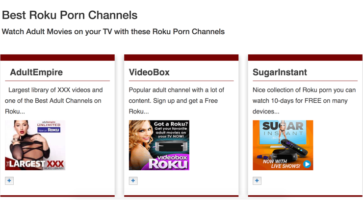 best porn roku for free