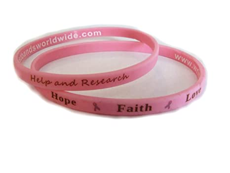 uk wristbands pink cancer breast