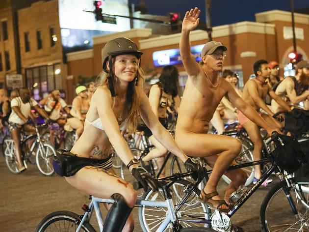 bike a on nude