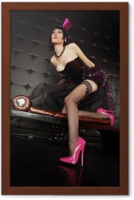 latex lingerie fetish poster