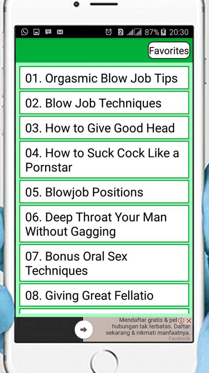 blow job good techniques