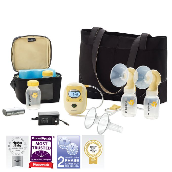 electronic breast pump double