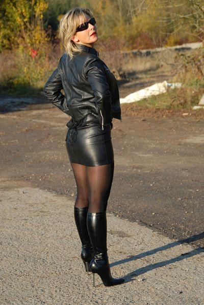 xxx leather skirt
