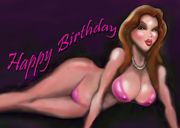 girl birthday nude ecard