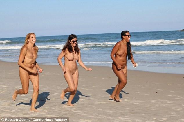 women nude beach athletic