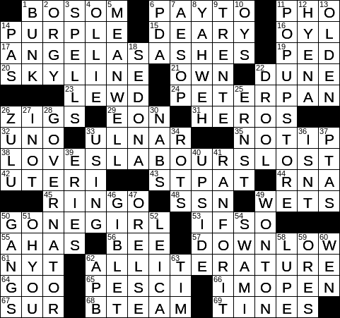 service goal dating crossword clue