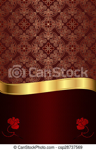 red background vintage