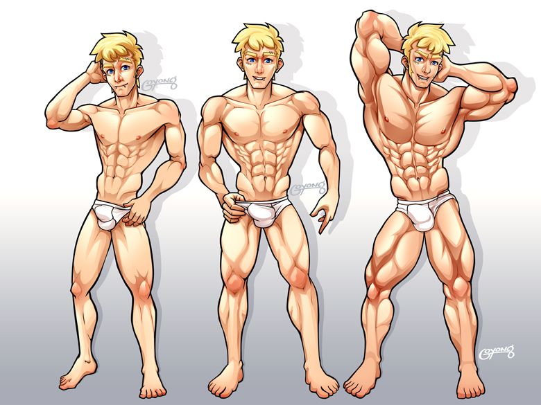 cartoon muscle growth transformation