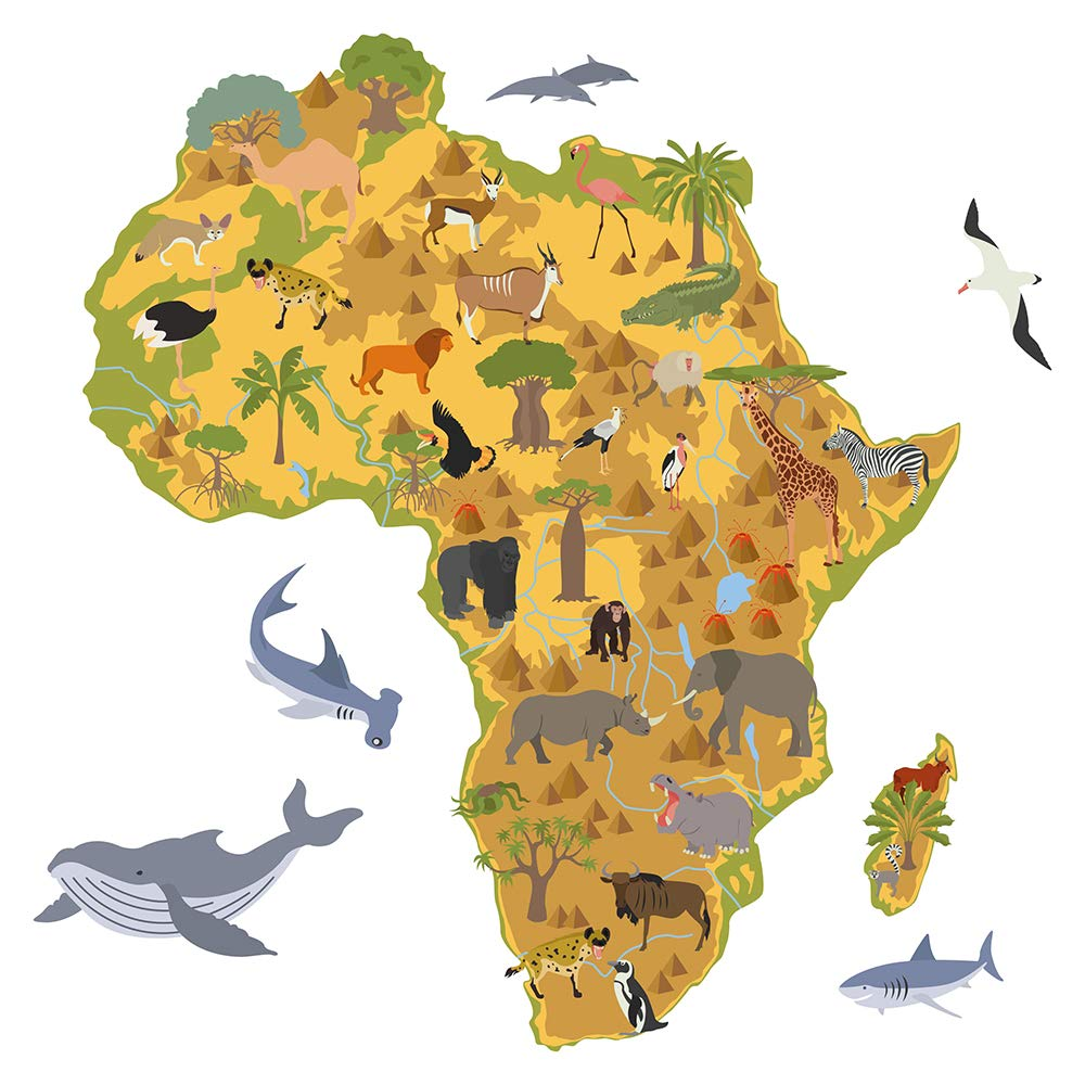 jungle map african