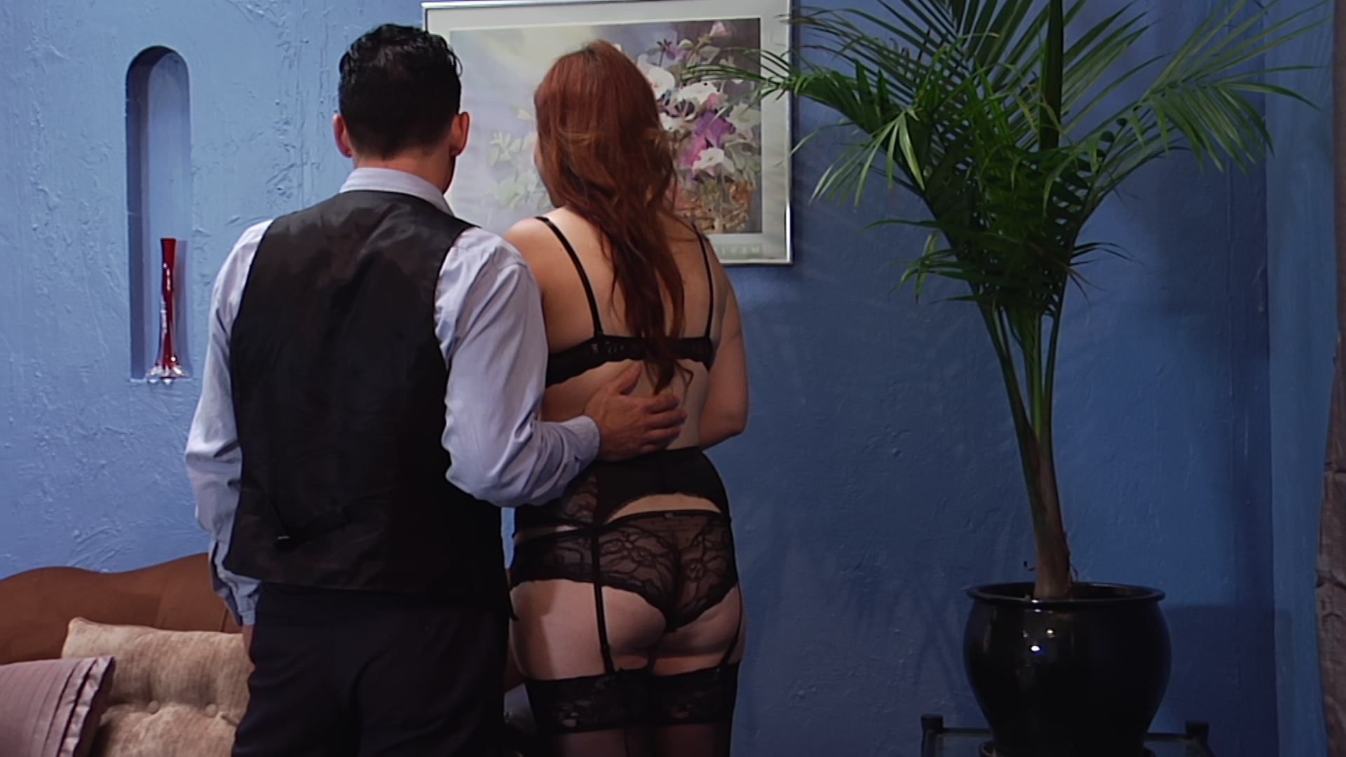 stockings french blow job maid