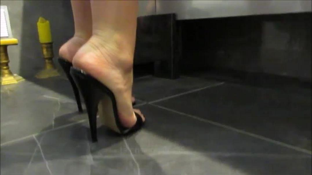in mules fetish heels street the