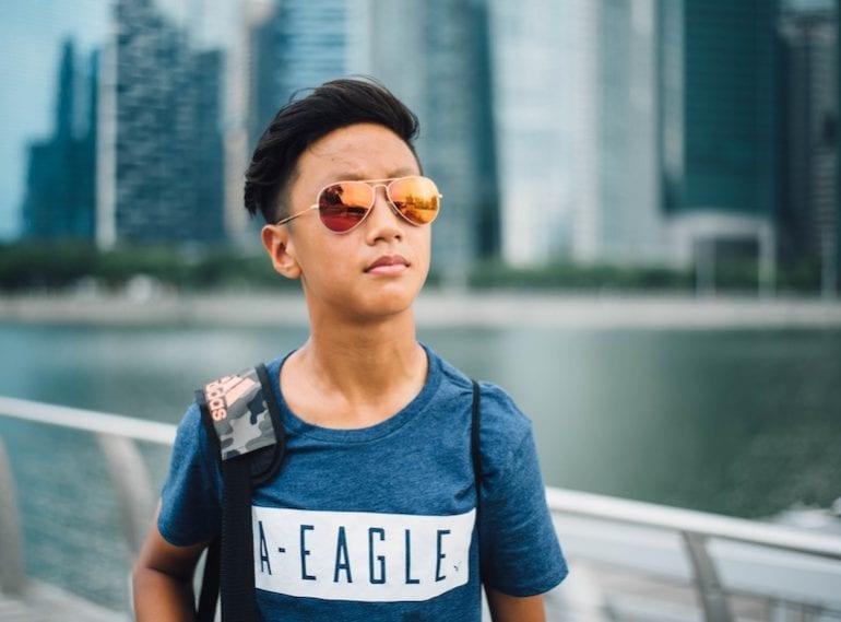 by raising teen
