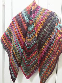 crochet scarf granny stitch