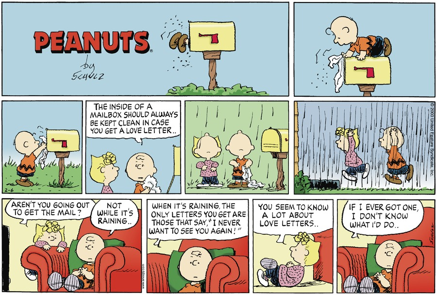 comic view peanuts strip