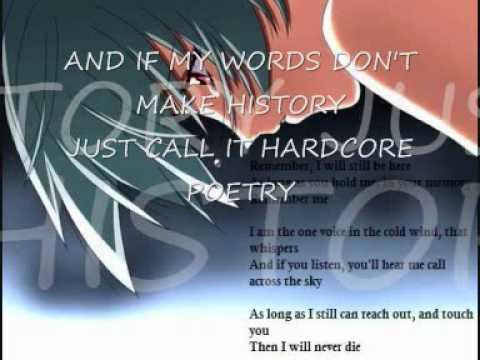 lyrics hardcore poetry of