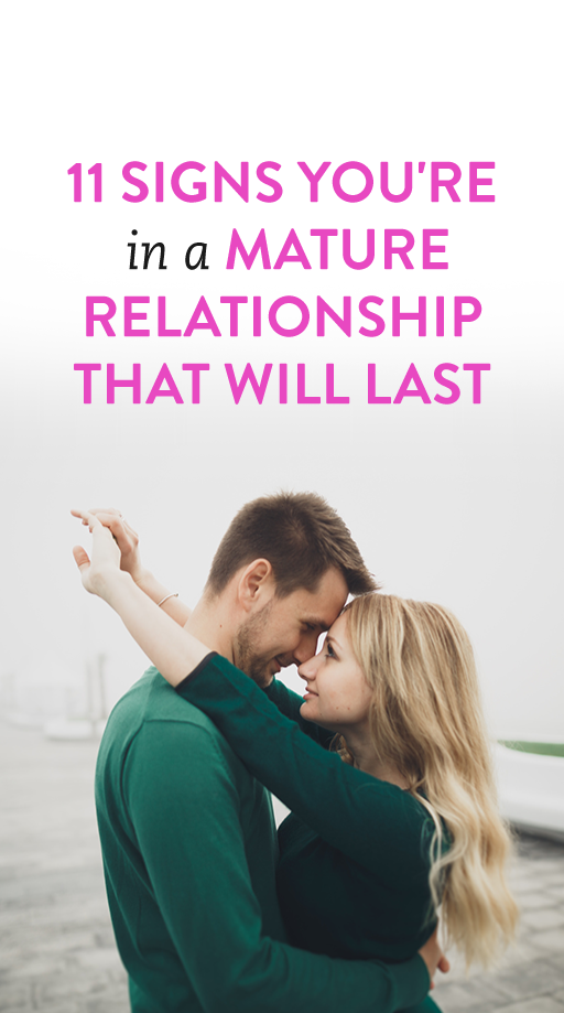 mature relationship signs