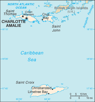 map islands of virgin christiansted