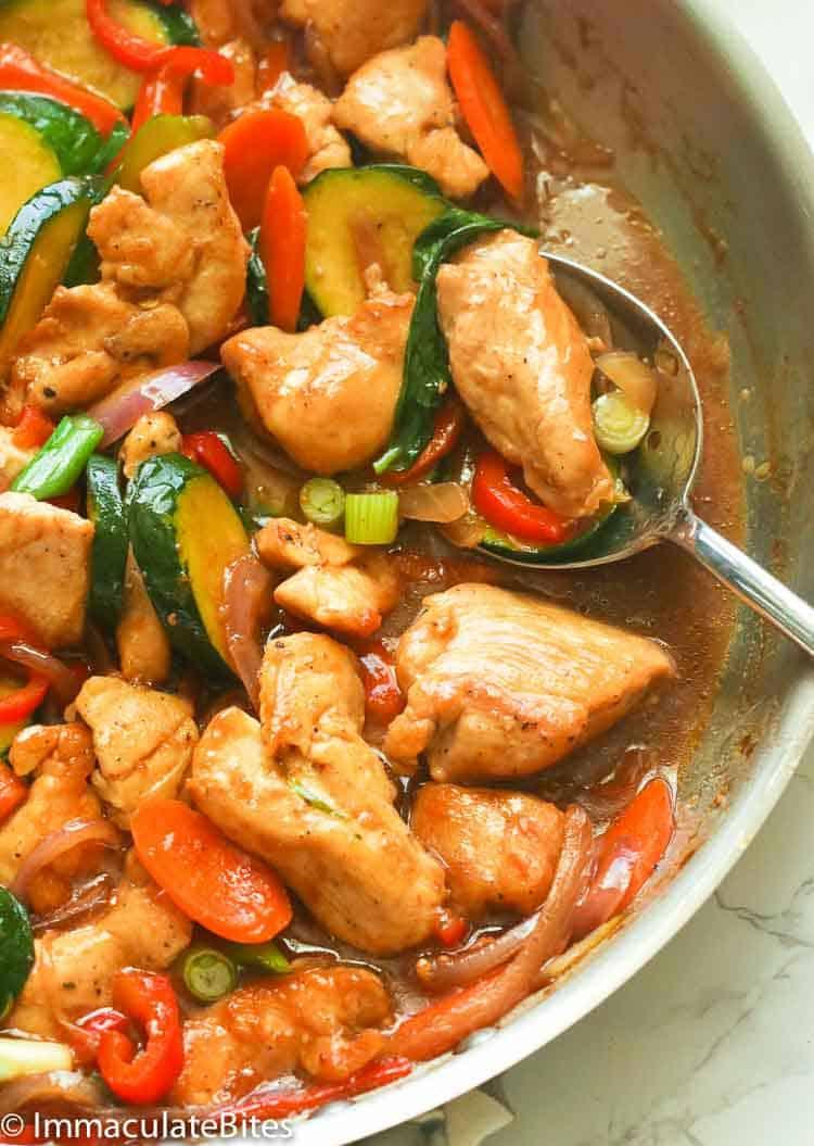 breast chicken fry stir