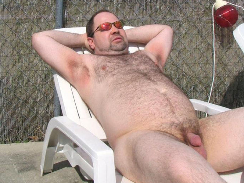 hairy naked fat men