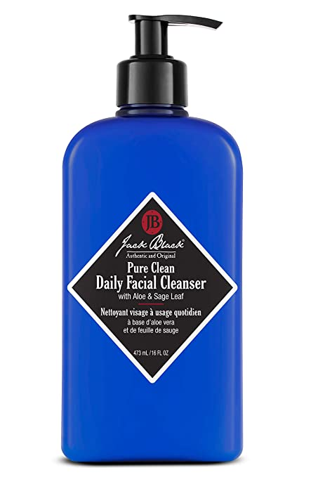 black facial cleanser